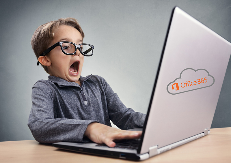 Shocked and surprised boy on the internet with laptop computer concept for amazement, astonishment, making a mistake, stunned and speechless or seeing something he shouldn't see